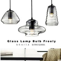 apartment dining room - led indoor lighting Villa Apartment Modern Simple Clear Glass Lamp fixture Transparent Glass UFO Pendant Lights