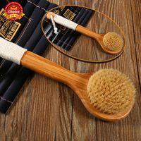 Wholesale Bestrice Natural Bamboo Bath Shower Body Back Brush Spa Scrubber New Shower Brush