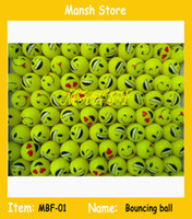 Wholesale 32mm bouncing ball emojis rubber bouncing ball face bouncy ball for kids promotional balls