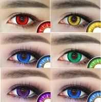 Wholesale Colorful cosmetic contacts for cosplay colors in stock yearly use