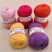 Wholesale 5pcs g Soft Warm Knitting Knitted Yarn Wool Cashmere Handcraft Yarn Worsted Sweater Soft Bamboo Cotton Skein