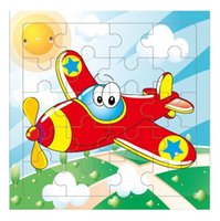 Wholesale Kids toys cartoon wooden Puzzle educational toy for children Aircraft juguetes educativos