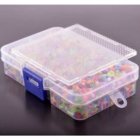 Wholesale Mixed mm Hama Fuse Perler Beads box mixed Beads Small Pegboard iron Paper Tweezers Beads Box
