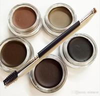 Wholesale DIPBRO Pomade with Duo Eyebrow Brushes Eyelash Comb Brush Blending Brush Eyebrow Ana Cosmetics Makeup Brush Set