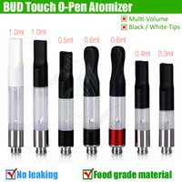 Wholesale Top quality BUD Touch Cartridge WAX CBD THC Oil Vaporizer Atomizer O Pen CE3 vapor Thick Waxy Mini cartomizers Tank vape e cigarette DHL
