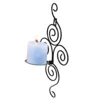 Ferro de suspensão arandela Castiçal Shelf Pastoral Estilo Arte Candlestick parede decorativo