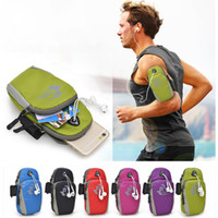 arm handbag - 5 Universal Running Riding Nylon Arm Band Case for iphone S Plus s se for Samsung Galaxy S6 S7 Edge S5 Note xiaomi Sport Bag