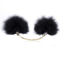 adult party gifts - Winter Sexy Stylish Furry Fuzzy Handcuffs Soft Metal Adult Hen Night Party Game Gift