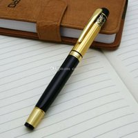 Wholesale New HERO Medium Nib Fountain Pen Luxury Black Gold Stainless E00410 BARD