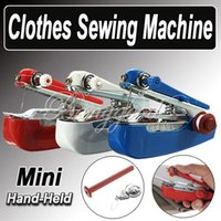 best travel clothes - Best Promotion Household Mini Portable Pocket Handheld Handy Sartorius Clothes Fabric Manual Sewing Machine Home Travel