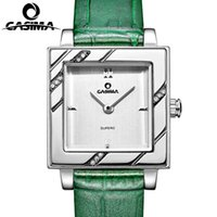 beauty leather straps - 2016 Luxury brand watches women fashion casual beauty fancy womens quartz wrist watch Leather strap Watch CASIMA
