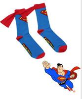 autumn man film - 50pairs Baby Cartoon Hero Socks Superman Men Women Superman Batman Cotton Sock With Capes Harajuku Style Film Cosplay Party Hosiery K7051