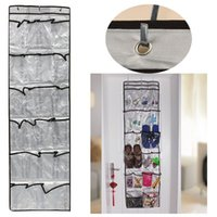bedroom clothes stand - New Pocket Door Hanging Holder Tidy Organiser Shelf Storage Stand Rack Wall Bag home Bedroom Durable Simple Design