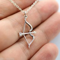 antique archery bows - Bow and Arrow Necklace Antique Silver Archery Archer Charm Jewelry NEW