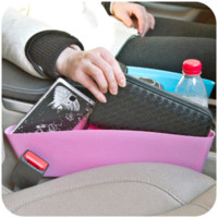 abs waste - Compressible Car Organizer Cigarette Butt Car Accessories Seat Storage Box Slit Pocket Catcher Waste Containers Stowing Tidying