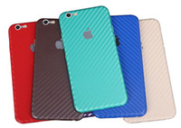 Wholesale Fornt Wrap Carbon Fiber Sticker Cover Protective Skin for iphone S plus s plus G SE Multi colors
