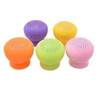 apple computer touch - Mini Mushroom Wireless Bluetooth Speaker Waterproof Silicone Sucker Hands Free Speakers for Apple Android Devices PC Computer MP3 iPhone