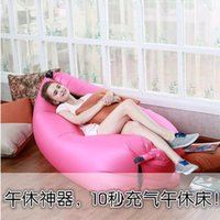 Wholesale Outdoor inflatable sofa Air cushion bed lazy inflatable bed portable simplicity of operator