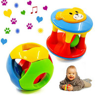 Wholesale 2pcs Baby Toy Fun Little Loud Jingle Ball Ring jingle Develop Baby Intelligence Training Grasping ability Toy For Baby M Year