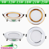 Wholesale Dimmable Recessed LED Ceiling Light W W W W W W Inch LED Downlights