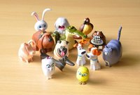 Wholesale 14pcs PVC The Secret Life of Pets Snowball Gidget Mel Max Duke Dogs Cats Rabbit Action Figure Toys Cute Desktop Decoration