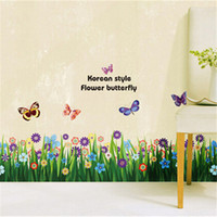bathroom tile decals - Landscape Country Plant Wall Stickers PVC Material Removable Decorative Plane Wall Ceramic Tile Stickers for Home Office Cafe