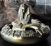 personalized ashtray - Egypt Tutankhamun creative ashtray Vintage Egyptian pharaohs metal ashtray Personalized Metal Home Decoration
