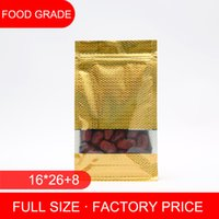 beef factory - factory price gusset zip lock gold aluminum foil bag with window Beef jerky packing bag