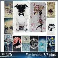 apple puppy - High Quality Fashion Beautiful Girl And Puppy Butterfly PU Leather Flip Cover Case For iPhone Plus Pro
