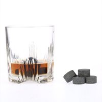 beer rocks - 9pcs mm Whisky Ice Stones Drinks Beer Cooler Granite Rocks with Pouch H17182