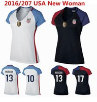 Wholesale Alex Lloyd Morgan Women Football Shirt shirts Abby Wambach only Home of Lady Black High Quality New t shirts