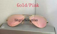 achat en gros de plage lunettes de soleil femmes-Best Sell Brand Designer or rose Lunette Lunettes de soleil Hommes Women's beach 58mm 62mm Sunglass avec boîte