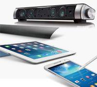 amplifier bar - Upgraded Newest HIFI Portable Bluetooth w Soundbar Mini Wireless Speaker Amplifier Stereo Sound Bar with Mic USB Amplifiers