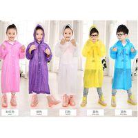Wholesale Age Kids Hooded Jacket Rain Poncho Raincoat Cover Long Rainwear Solid Lightweight Children s Rain Suit