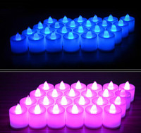 soy wax - Battery Operated Flameless Candles Faux Tea Light Candles For Wedding Birthday Christmas Easter Party Led Flameless Candles