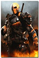 batman games arkham - RR029 Deathstroke Batman Arkham Origins City Game Art Silk Poster x36inch