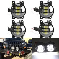 Wholesale 4x INCH W CREE LED Fog Light Driving Lamp DRL Light SUV For Jeep Wrangler JK CJ TJ