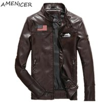 Wholesale Fall Men New Casual Fashion Leather Jacket Motorcycle Leather Jacket Mens Manteau Homme Jaqueta Masculina Couro Para Motoqueiro