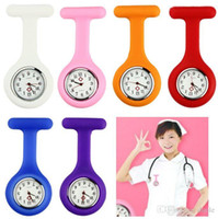 band tnt - Nurse watches colors Silicone Pocket Watch alloy Soft band brooch Nurse Watch for Christmas birthday gift Free DHL Fedex TNT
