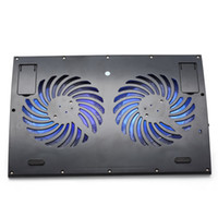 abs laptop fan - 2 USB Notebook Cooler Laptop Cooling Pad Two cm LED light Fans quot quot PC Computer Cooler Heat Reduction Black Boderless Metal Mesh ABS