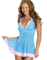Wholesale Women sexy costumes Sexy lingerie intimate underwear slips sex products erotic lingerie sleepwear Romantic perspective nightgown