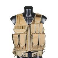 Wholesale Colors Mens Airsoft Tactical Vest Military Amphibious Molle Vests Sports Multicam Modular Combat gilet Military Gear Waistcoa