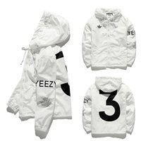 baseball coats - YEEZY3 Jacket Men KANYE Hip Hop Army Military Windbreaker YEEZUS Jacket Baseball Mens Coat Men Bapes Outdoor Brand man Jacket