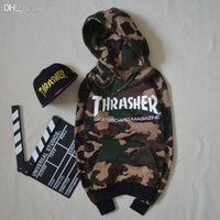 Wholesale Men sport skateboard camouflage hip hop harajuku thrasher hoodies sweatshirts women casual pullover jogging suits chandal hombre