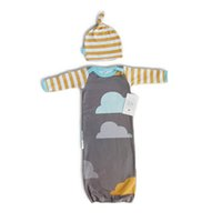 air hat - Sleeping Baby Bags Air conditioning anti Tipi Sets Clouds Printed Bedding Swaddle Warm Wrap Sleeping Sack With Hat New