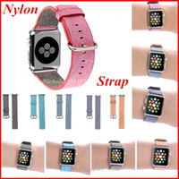 Cheap Newest For Apple Watch Band Woven Nylon Bands Apple Watch Fabric Loop Wrist Watch Bands Strap Bracelet 38mm  42mm With Metal Adapter