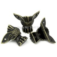 antique blinds - 6 Box Corner Foot Four Sides Antique Bronze Pattern Carved x2 cm B01217 side view mirror blind spot