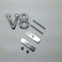 Cheap 3D Chrome V8 Metal Front Grille Grill Emblem Car Auto Turning Racing Running Body Kit Badge Logo Decal Emblem
