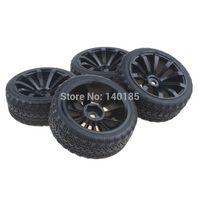 battery pack for electric car - Black Spoke Plastic Wheel Rim amp Soft Tires Tyre for HSP HPI On Road Car Pack of