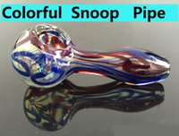 glass pipes - Glass Spoon smoking bong for smoking wid colorful thick glass spoon for tobacoo pipe oil rig glass bongs bubbler